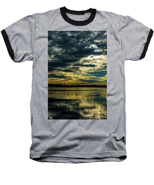 Sunset At The Wetlands Baseball T-Shirt