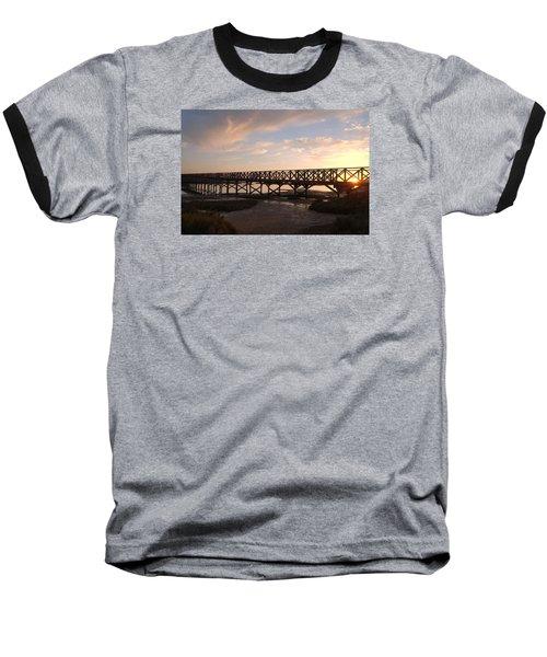 Sunset At The Wooden Bridge Baseball T-Shirt by Angelo DeVal