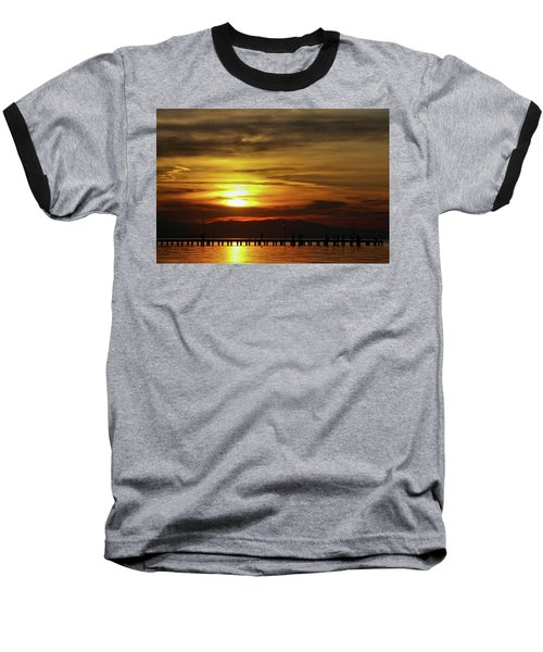 Sunset At Thessaloniki Baseball T-Shirt by Tim Beach