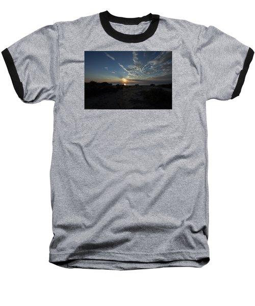Sunset At Torrey Pines Baseball T-Shirt