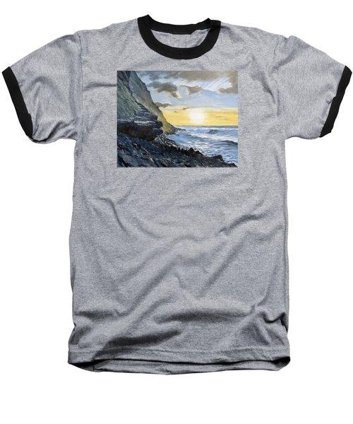 Sunset At Warren Point Duckpool Baseball T-Shirt