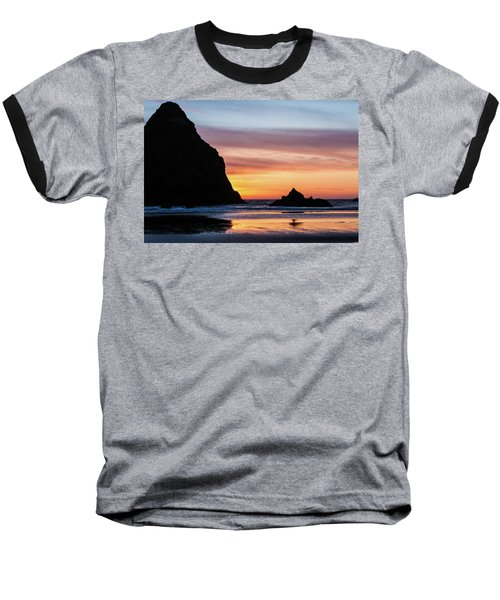 Sunset At Whalehead Beach Baseball T-Shirt