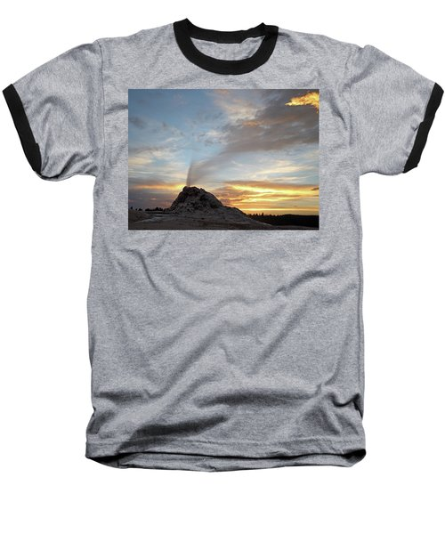 Sunset At White Dome Geyser Baseball T-Shirt