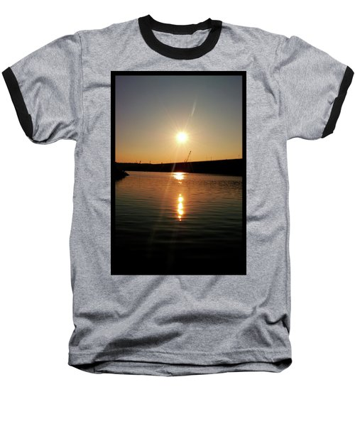 Sunset At Wolf Creek Dam Baseball T-Shirt