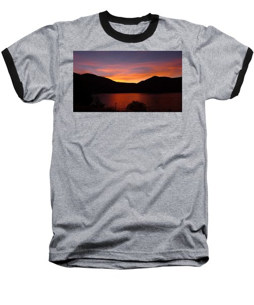Sunset At Woodhead Campground  Baseball T-Shirt