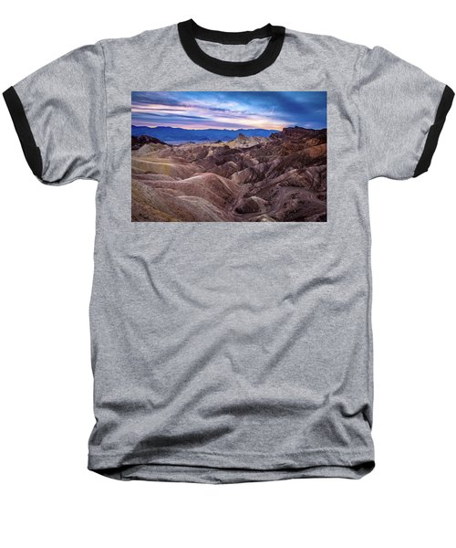 Sunset At Zabriskie Point In Death Valley National Park Baseball T-Shirt