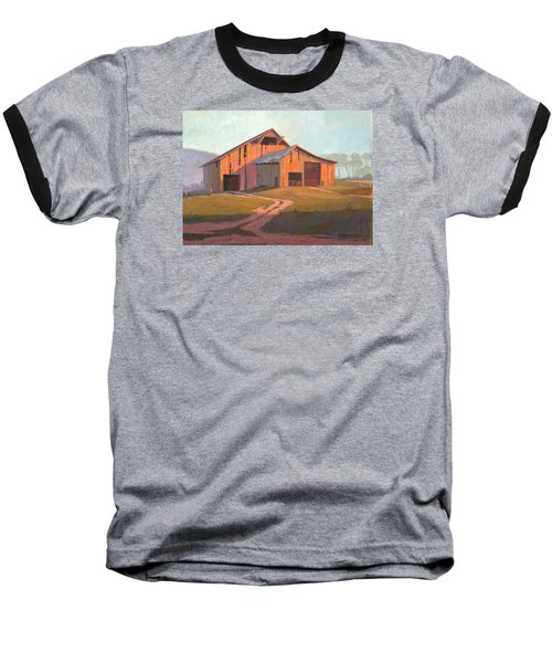 Baseball T-Shirt featuring the painting Sunset Barn by Michael Humphries