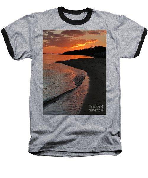 Baseball T-Shirt featuring the photograph Sunset Bay by Lori Mellen-Pagliaro