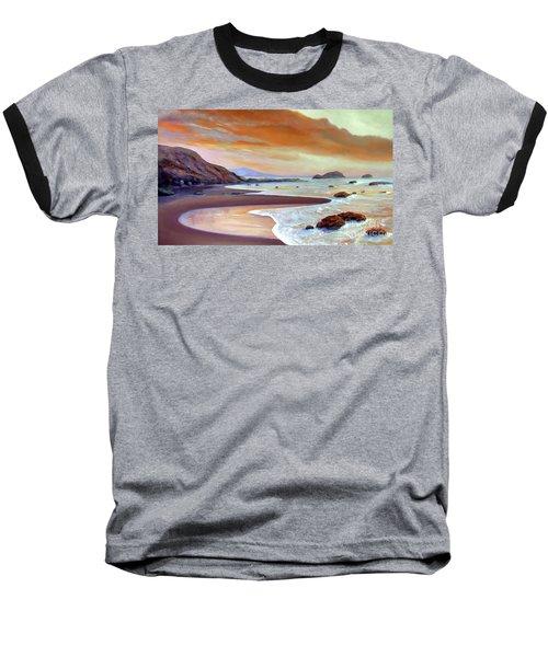 Sunset Beach Baseball T-Shirt by Michael Rock