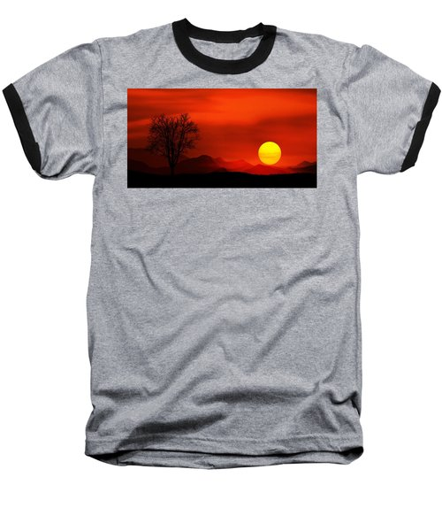 Sunset Baseball T-Shirt by Bess Hamiti