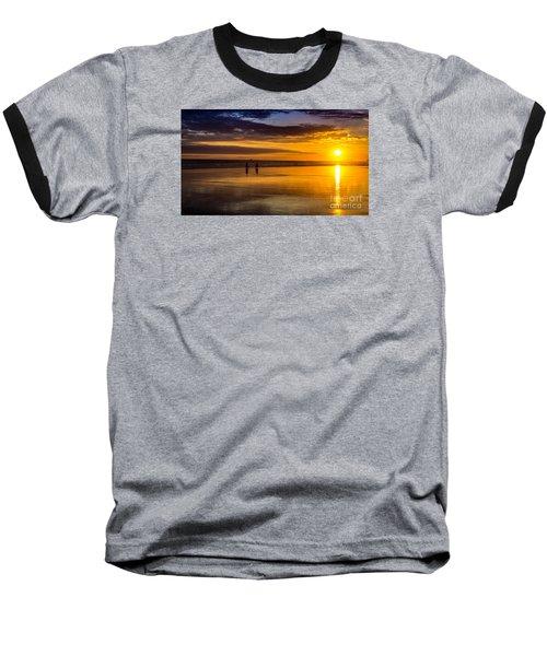 Sunset Bike Ride Baseball T-Shirt by David Smith