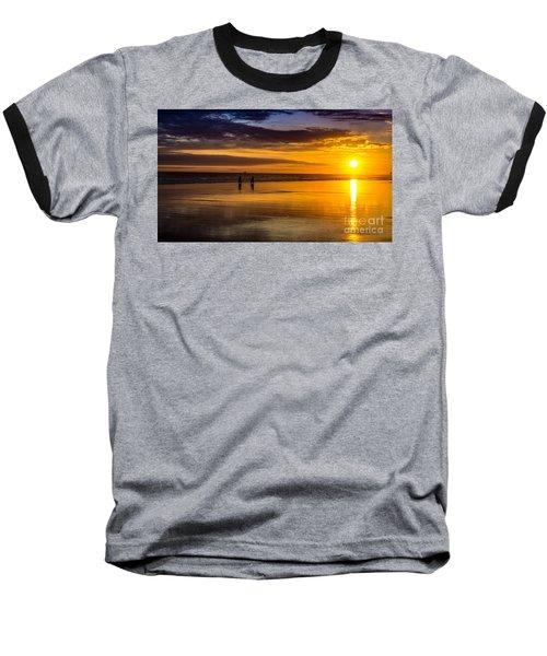Sunset Bike Ride Baseball T-Shirt