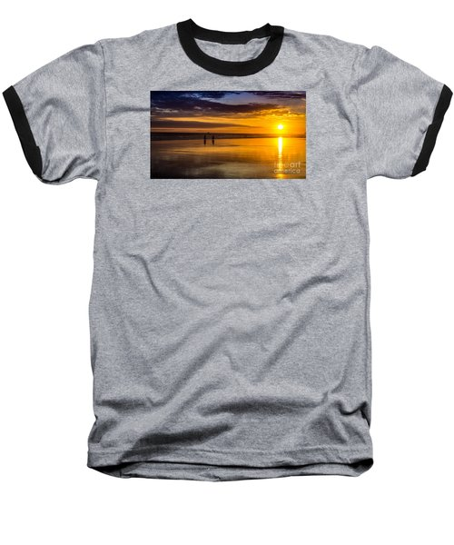 Sunset Bike Ride Baseball T-Shirt