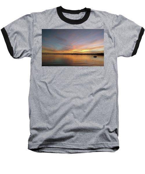 Sunset Blaze Baseball T-Shirt