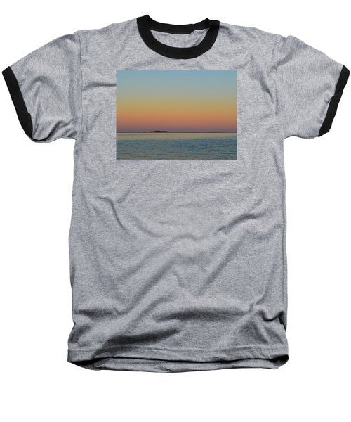 Sunset Blend At The Outer Harbor 2  Baseball T-Shirt by Lyle Crump