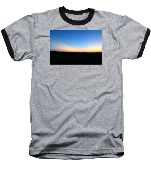 Sunset Blue Baseball T-Shirt by Jana Russon