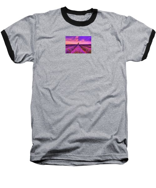 Sunset Blues Baseball T-Shirt by Midori Chan