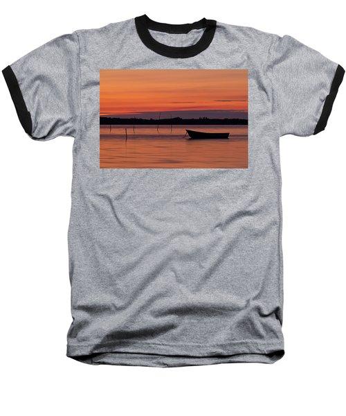 Sunset Boat Baseball T-Shirt