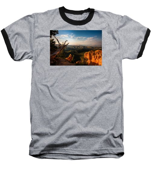Sunset Bryce Baseball T-Shirt by Rebecca Hiatt