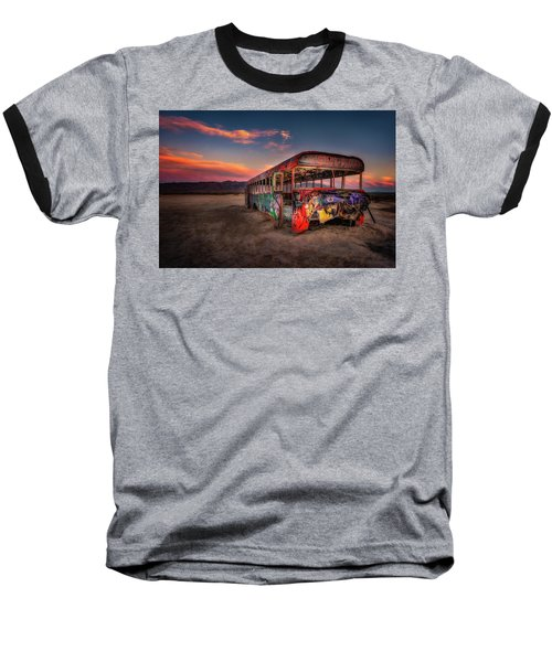 Sunset Bus Tour Baseball T-Shirt