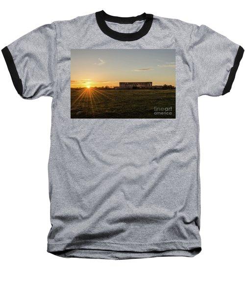 Sunset By Old Castle Ruin Baseball T-Shirt by Kennerth and Birgitta Kullman