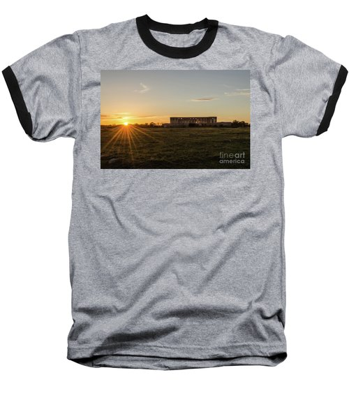 Sunset By Old Castle Ruin Baseball T-Shirt