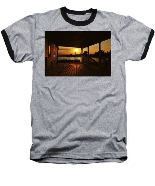 Baseball T-Shirt featuring the photograph Sunset By The Beach by Angel Cher