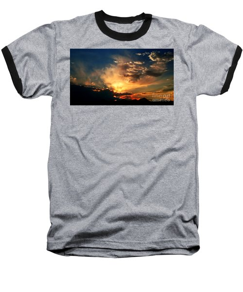 Baseball T-Shirt featuring the photograph Sunset Of The End Of June by Zedi