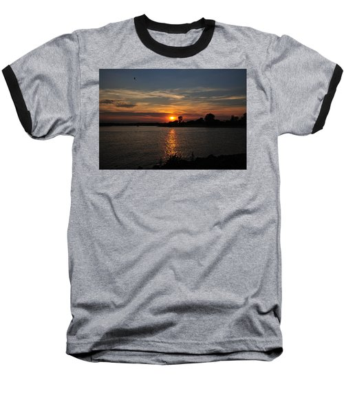 Baseball T-Shirt featuring the photograph Sunset By The Inlet by Angel Cher