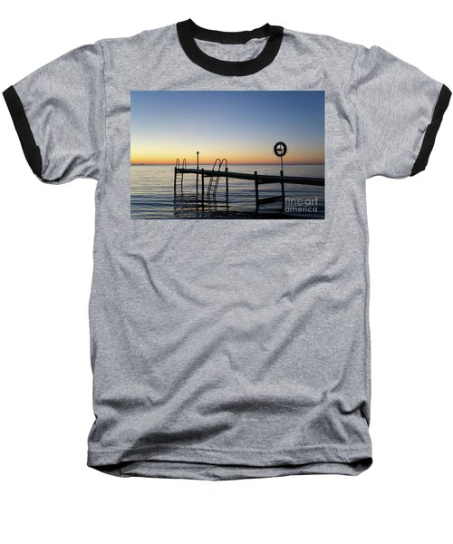 Baseball T-Shirt featuring the photograph Sunset By The Old Bath Pier by Kennerth and Birgitta Kullman