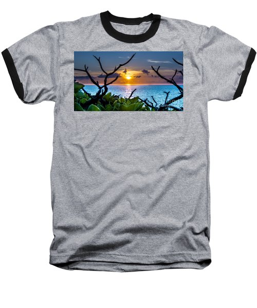 Sunset By The Point Baseball T-Shirt