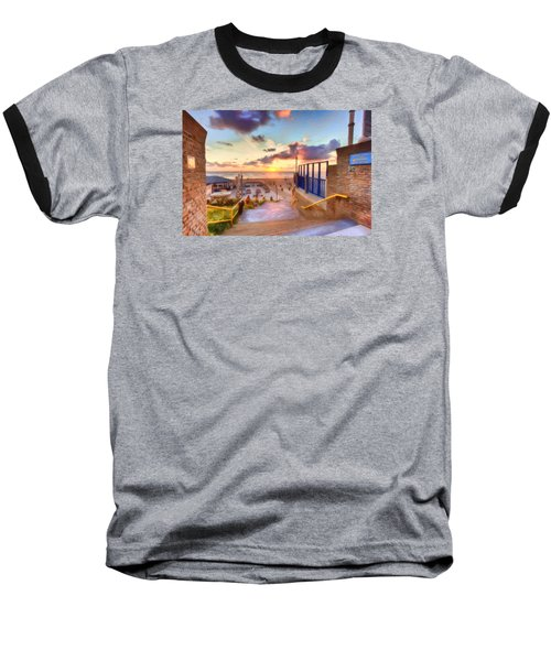 Sunset By The Sea Baseball T-Shirt by Nadia Sanowar