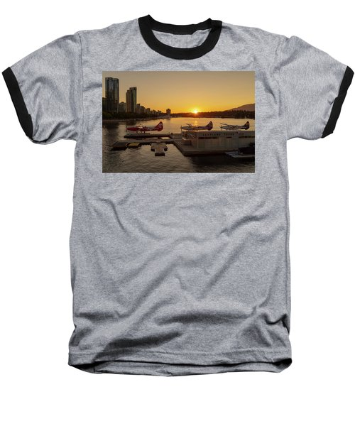 Sunset By The Seaplanes Baseball T-Shirt