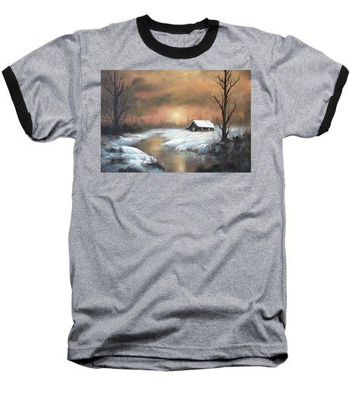 Sunset Cabin  Baseball T-Shirt