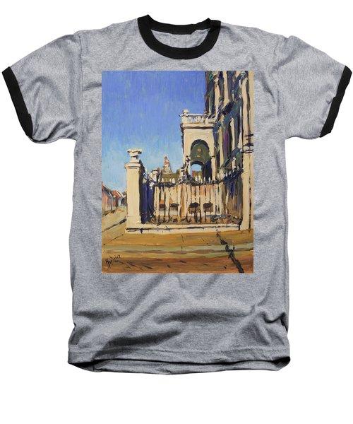 Sunset Cityhall Maastricht Entrance Baseball T-Shirt