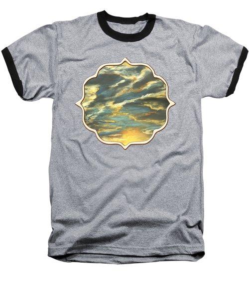 Baseball T-Shirt featuring the painting Sunset Clouds by Anastasiya Malakhova