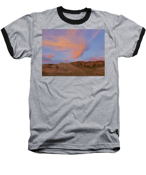 Sunset Clouds, Badlands Baseball T-Shirt