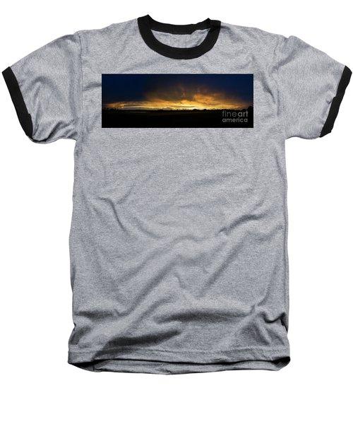 Sunset Clouds Baseball T-Shirt