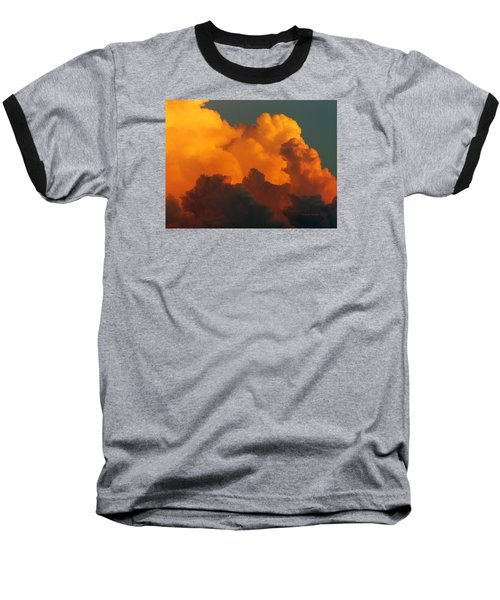 Sunset Clouds Baseball T-Shirt by Jana Russon