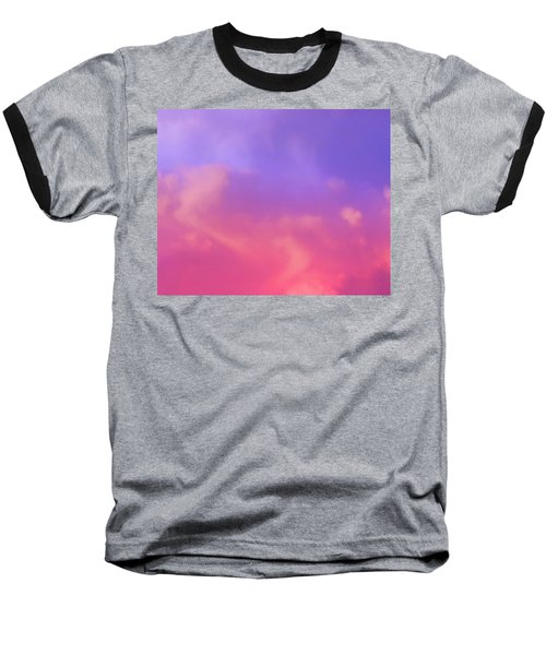 Sunset Clouds Baseball T-Shirt