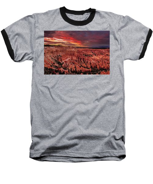 Sunset Clouds Over Bryce Canyon Baseball T-Shirt