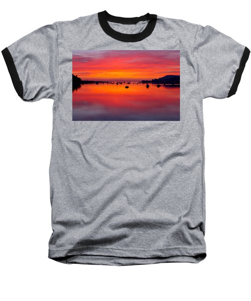 Sunset, Conwy Estuary Baseball T-Shirt
