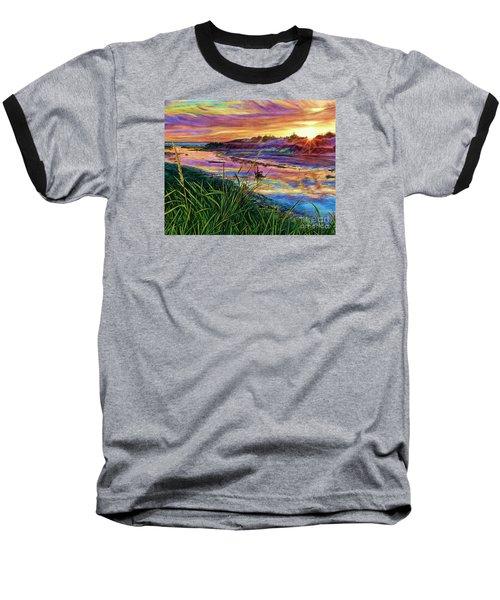 Sunset Creation Baseball T-Shirt