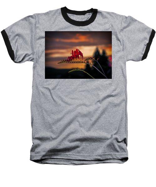 Sunset Crocosmia Baseball T-Shirt