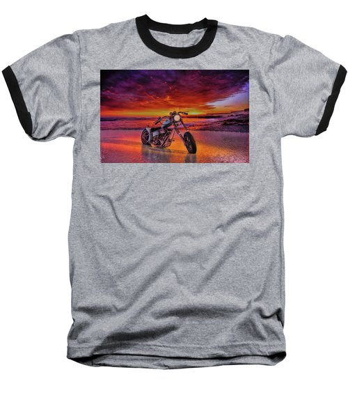 sunset Custom Chopper Baseball T-Shirt