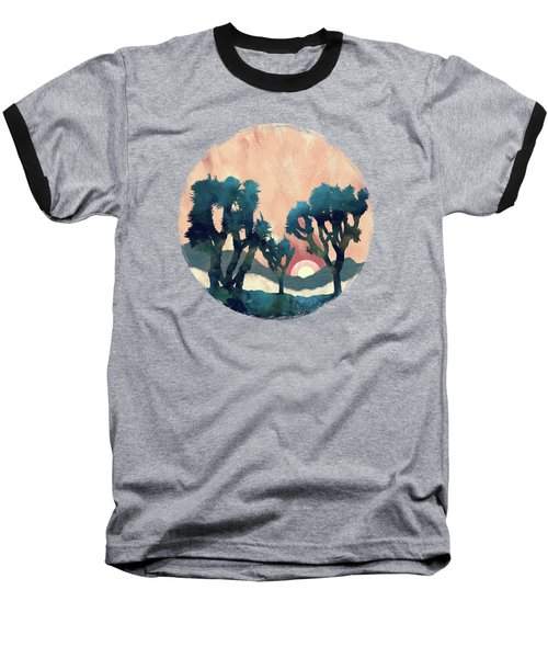 Sunset Desert Canyon Baseball T-Shirt