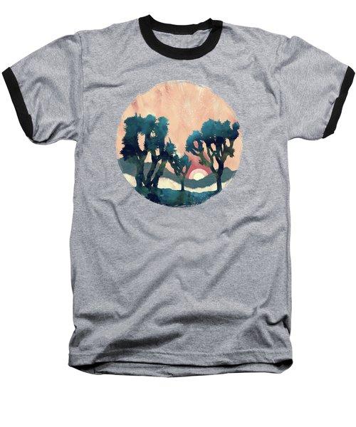 Sunset Desert Canyon Baseball T-Shirt