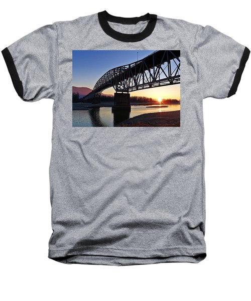Fraser River, Bc  Baseball T-Shirt by Heather Vopni
