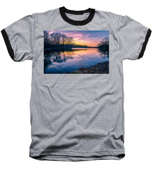 Sunset-dorothy Pond Baseball T-Shirt by Craig Szymanski