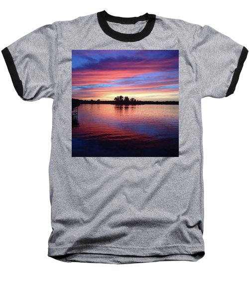 Baseball T-Shirt featuring the photograph Sunset Dreams by Rebecca Wood